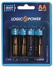 Батарейка LogicPower Super heavy duty AA R6P _ бл 4шт_ КОРОБКА = 12 бл = 48шт