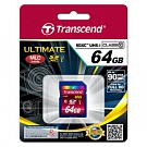 Карта памяти Transcend Ultimate SDXC 64GB Class 10 UHS-1