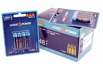 Батарейка LogicPower Super heavy duty AAA R03P_ бл 4шт_ КОРОБКА = 12 бл = 48шт